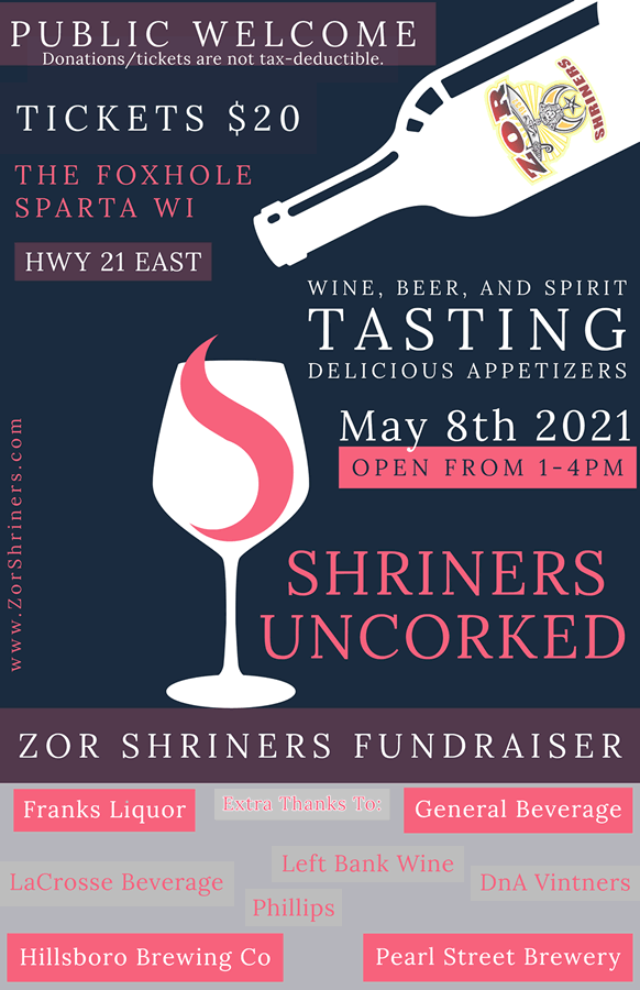 ZOR Shriners Uncorked Fundraiser small poster